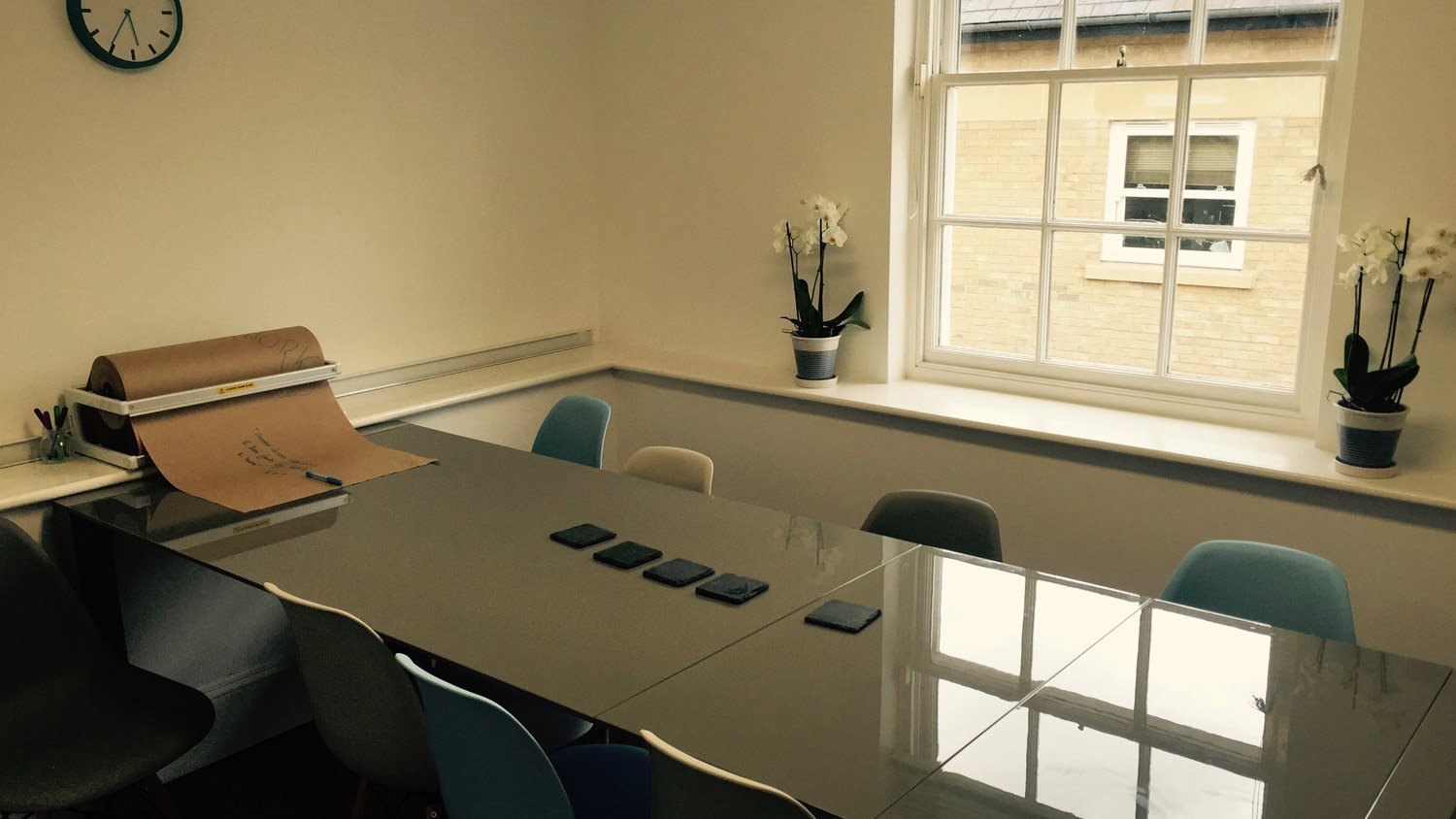Meeting room in our Angel Court coworking space